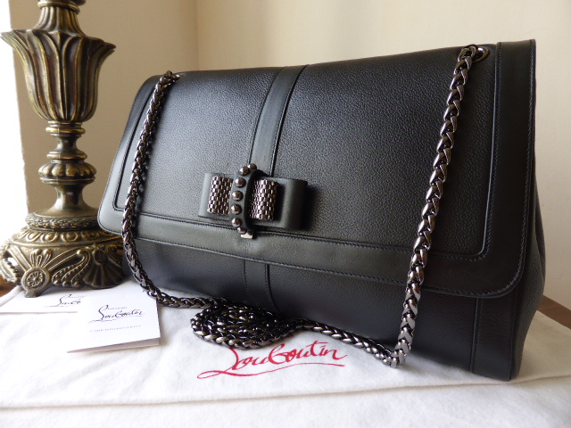 Christian Louboutin Sweet Charity Large Gaia Calf Leather Shoulder Bag in B