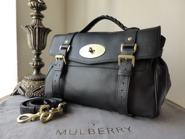 Mulberry Regular Alexa in Black Smooth  Touch Leather