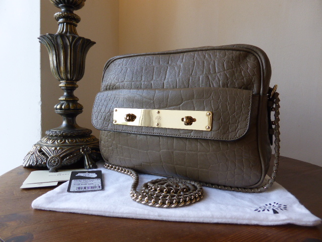 Mulberry Carter Camera Bag in Birds Nest Croc Embossed Nappa