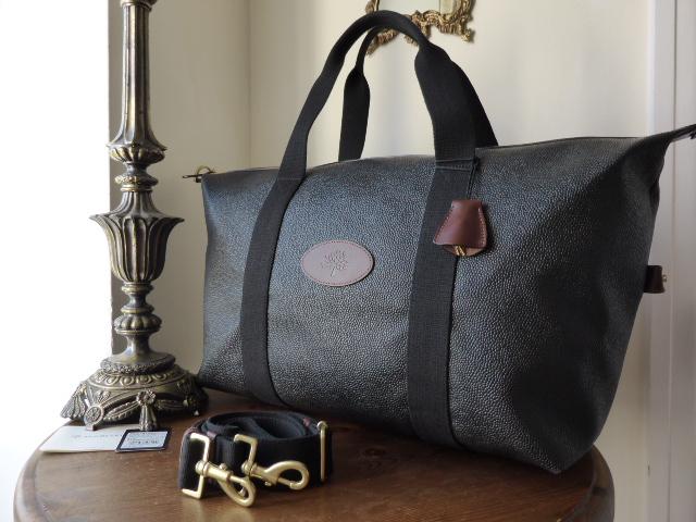 Mulberry Small Travel Clipper in Black & Branston Scotchgrain