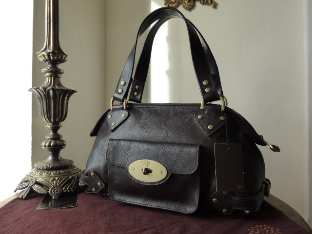Mulberry Large Knightsbridge in Chocolate Darwin Leather