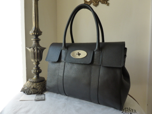 Mulberry Bayswater Special in Graphite Pebbled Leather