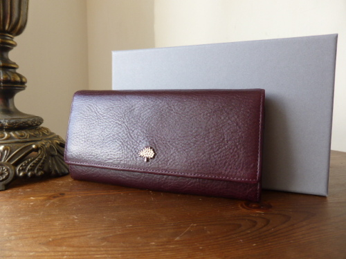 Mulberry Tree Continental Wallet in Oxblood Natural Leather - New*