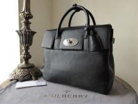 Mulberry Cara Delevingne Bag in Black Natural Leather - New