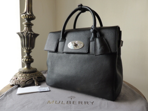 Mulberry Cara Delevingne Bag in Black Natural Leather - New