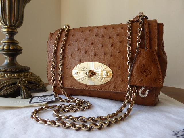 Mulberry Limited Edition Union Jack Lily in Oak Ostrich Leather
