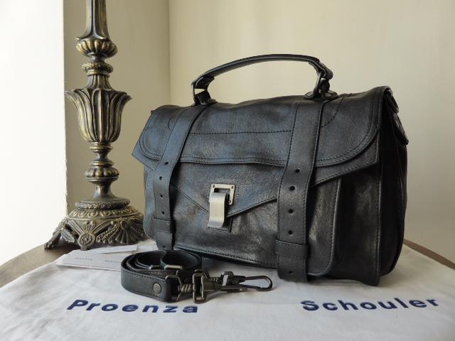 Proenza Schouler PS1 Medium in Black with Matte Gunmetal Hardware