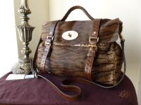 Mulberry Oversized Alexa in Oak Bengal Tiger Haircalf