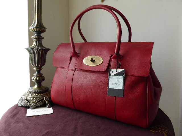 Mulberry Bayswater Special in Red Glove Leather