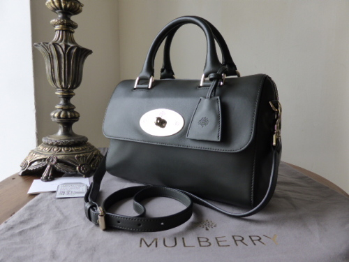 Mulberry Del Rey (Small) in Evergreen Silky Nappa