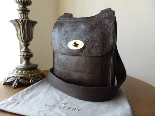 Mulberry Antony (Regular) in Chocolate Natural Leather