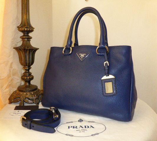 49d5a12e429d Prada Tote in Inchiostro Blue Vitello Daino Leather BN2579 - SOLD