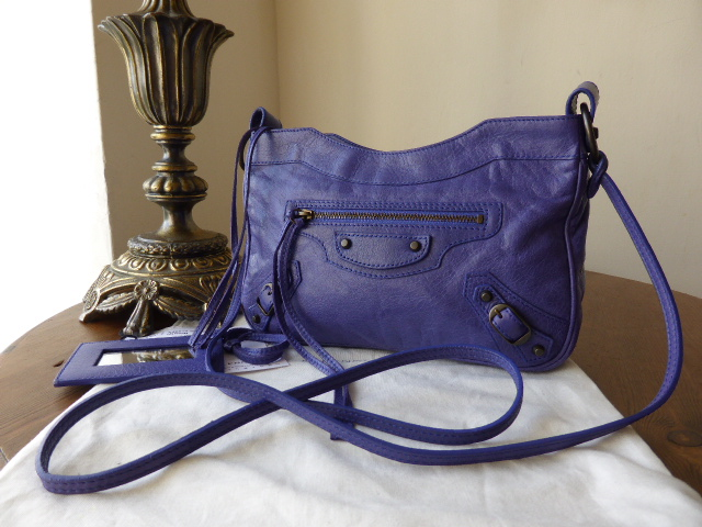 Balenciaga Classic Hip Messenger or Shoulder Bag in Bleu Lavande Agneau