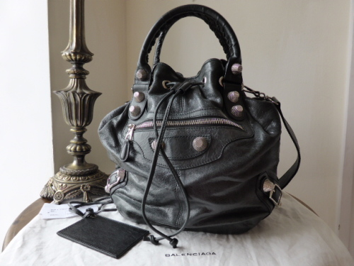 Balenciaga Giant 21 PomPon in Black with Silver Hardware - SOLD 9de4a6b0f29a6