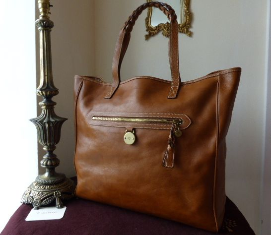 Mulberry Large Somerset Tote / Shopper in Oak Tumbled Leather