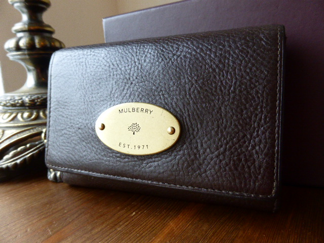 Mulberry French Purse in Chocolate Natural Leather