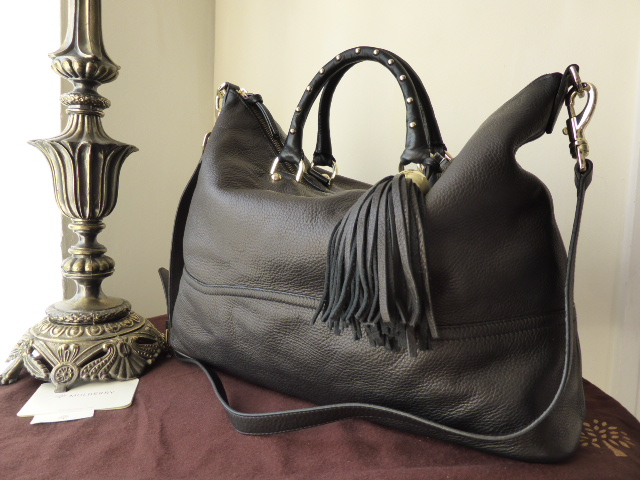 Mulberry Greta Tote in Black Soft Matte Leather