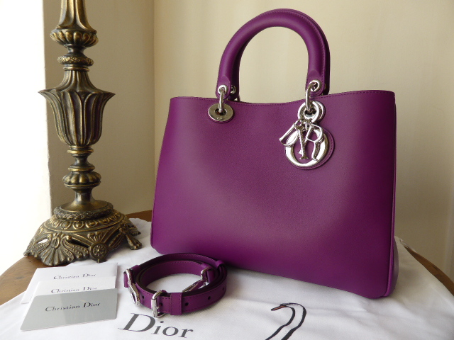 Dior Diorissimo Medium Tote with Zip Pouch in Orchidee - New