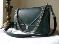 Dior Diorama Large Graphic Flap in Forest Green - New