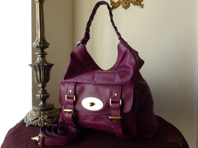 Mulberry Alexa Hobo in Plum Soft Buffalo Leather