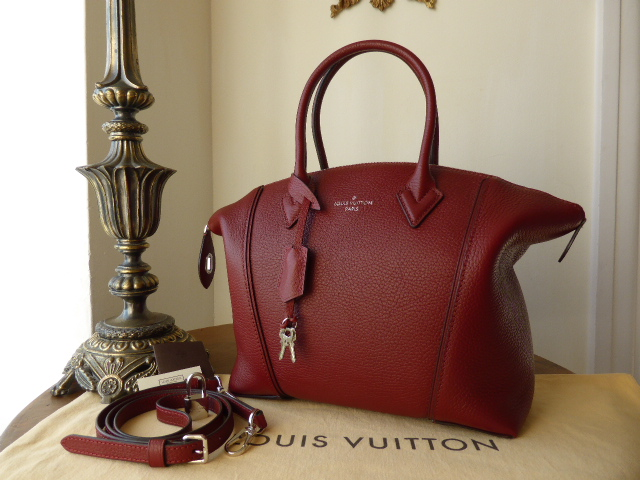 Louis Vuitton Soft Lockit PM in Griotte Taurillon - As New