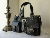 Mulberry Roxanne in Black Natural Vegetable Tanned Leather ref LN