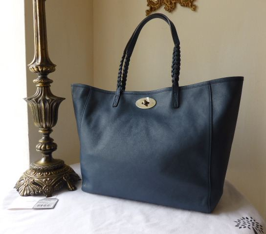 Mulberry Medium Dorset Tote in Slate Blue Soft Nappa Leather - New*