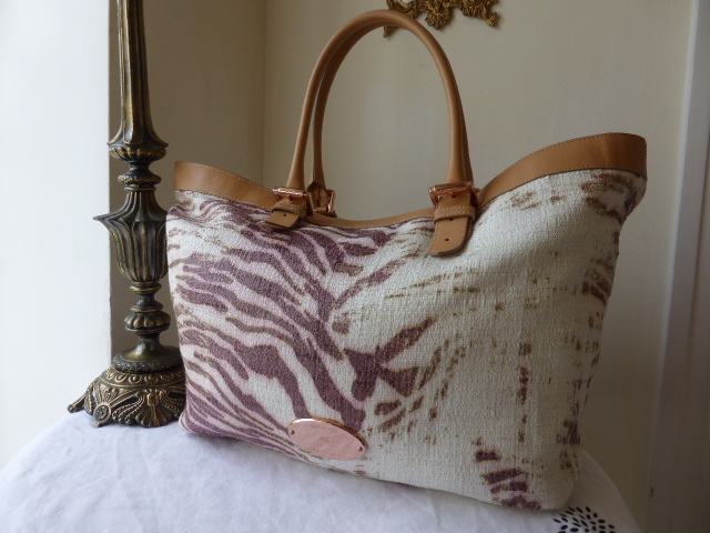 Mulberry Trippy Tiger XL Tote with Rose Gold Hardware