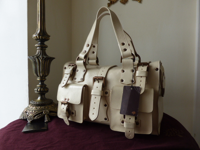 Mulberry Roxanne in Ivory (Off White) Antique Glace Leather - New*