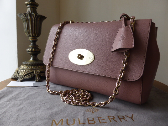 ea82bb604594 ... norway mulberry lily medium in dark blush glossy goat with soft gold  hardware sold 1f7fd 18eb7