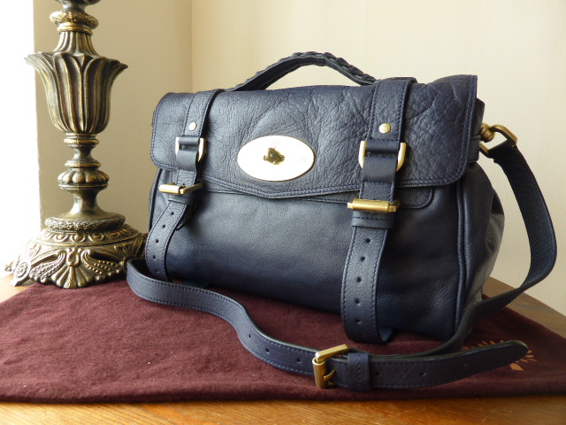 Mulberry Regular Alexa in Ink Soft Buffalo (Sub)
