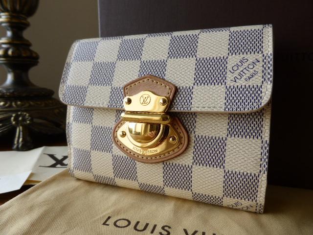 Louis Vuitton Joey Wallet in Damier Azur - As New