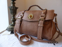 Mulberry Teddy Alexa in Pebbled Beige Shiny Lambskin