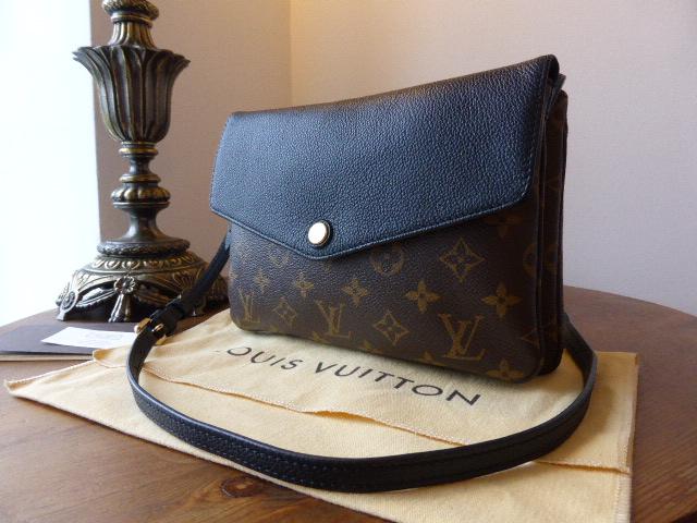 Louis Vuitton Twinset Clutch in Monogram Noir - As New