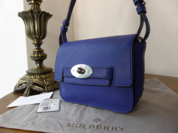 0bb9bffdacf8 Mulberry Bayswater Small Shoulder Bag in Indigo Polished Buffalo - SOLD