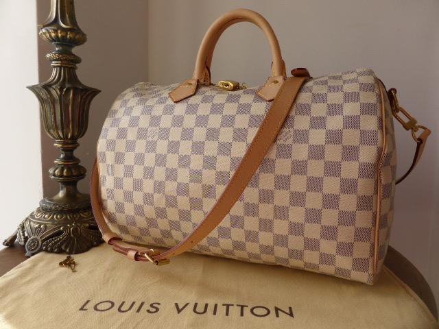 Louis Vuitton Speedy Bandouliere 35 in Damier Azure