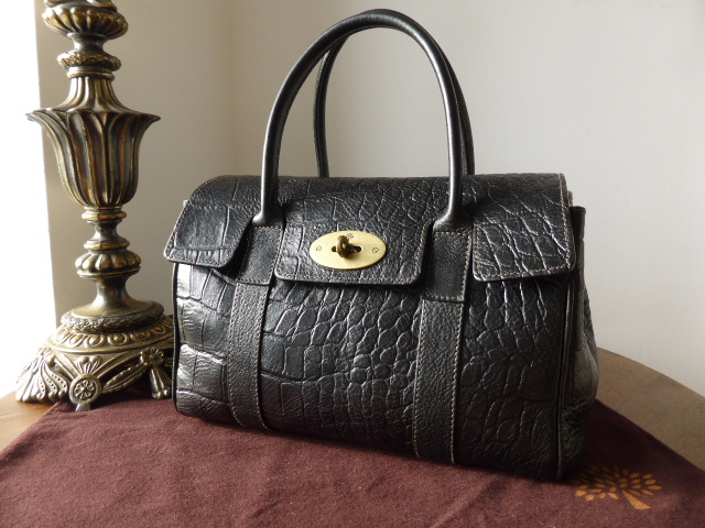 Mulberry Ledbury in Black Kenya Leather