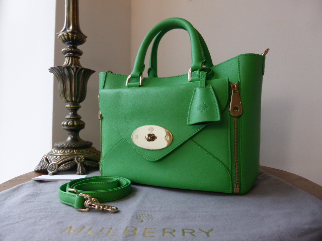 Mulberry Small Willow in Queen Green Silky Classic Calf - As New