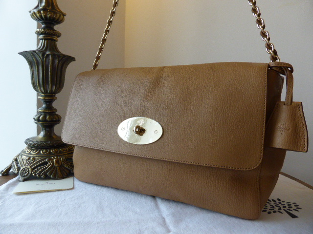 Mulberry Large Lily in Deer Brown Grainy Print Leather - New*