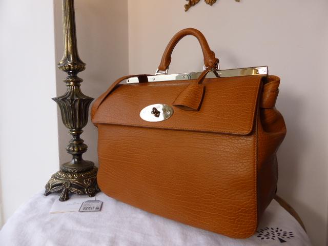 Mulberry Large Suffolk in Ginger Shrunken Calf Leather - New