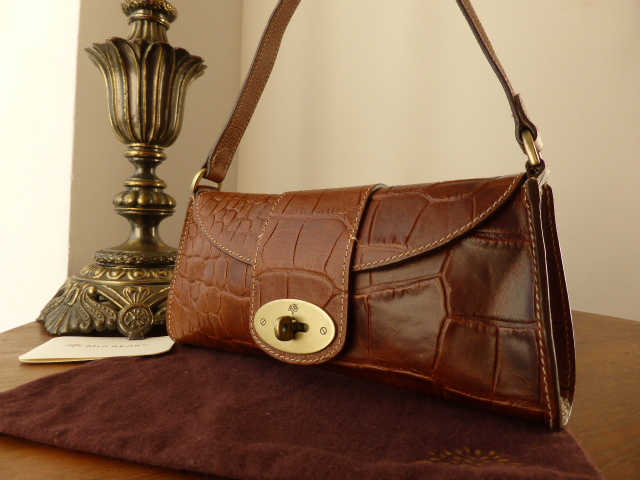 Mulberry Zinia in Oak Printed Vegetable Tanner Leather