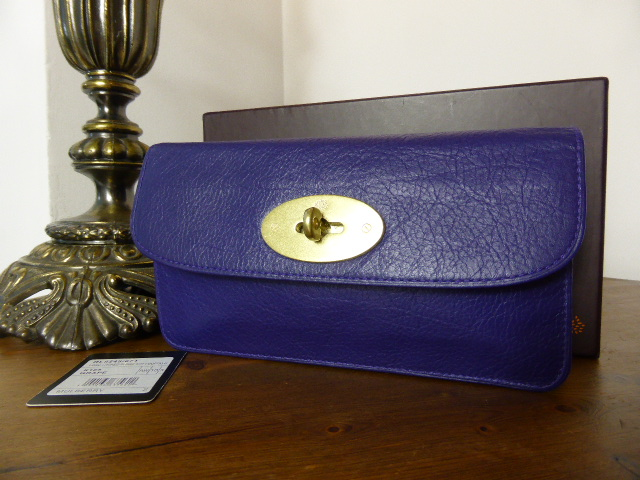 Mulberry Long Locked Purse in Grape Soft Buffalo  - New