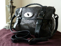 Mulberry Regular Alexa in Black Mini Leopard Patent