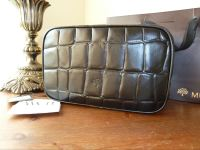 Mulberry Washbag in Black Printed Leather - New