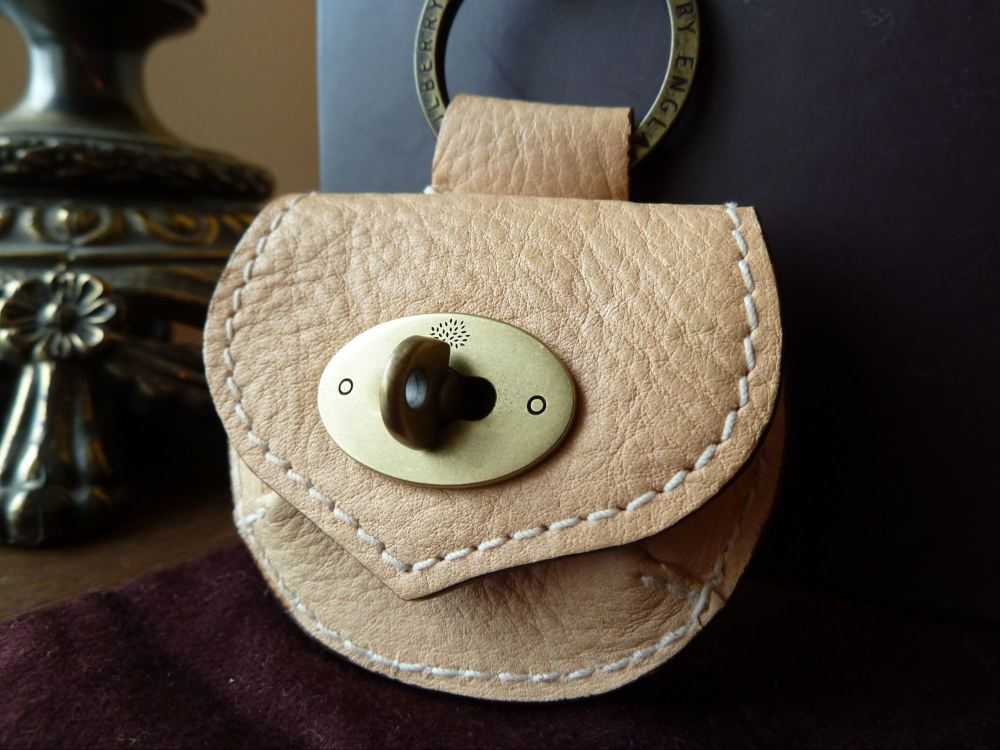 Mulberry Mini Locked Pouch Charm in Vanilla Darwin Leather - As New