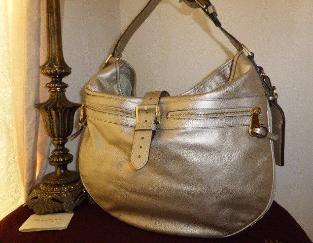 mulberry mabel hobo champagne grainy metallic