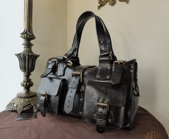 mulberry roxanne black antique glace