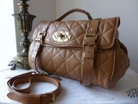 Mulberry Regular Alexa in Deer Brown Quilted Nappa - New*