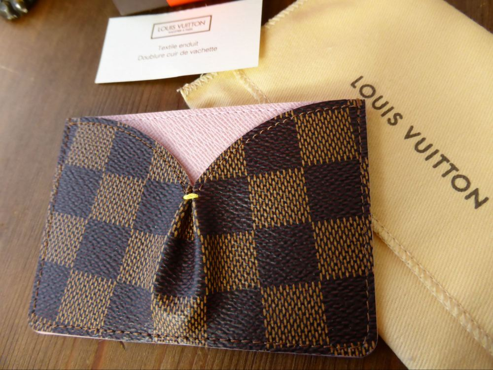 Louis Vuitton Caïssa Card Holder in Damier Ebene & Rose Ballerine - New