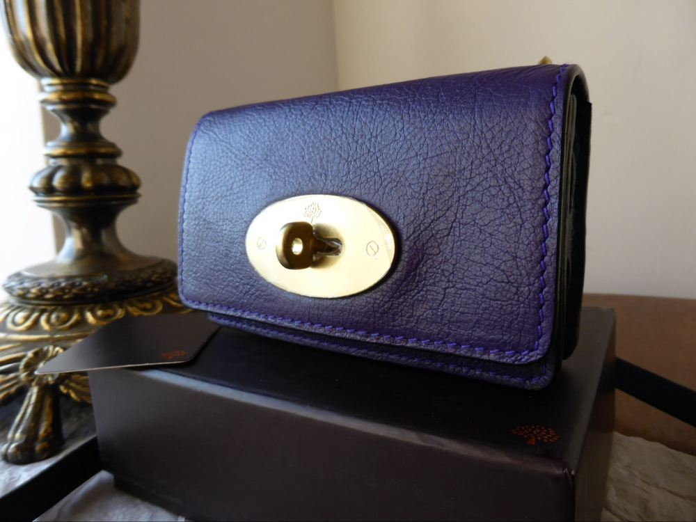 Mulberry Bayswater Mini Messenger for iPhone in Grape Soft Buffalo - New
